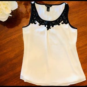 WHITE HOUSE BLACK MARKET Sleeveless Blouse S NWOT